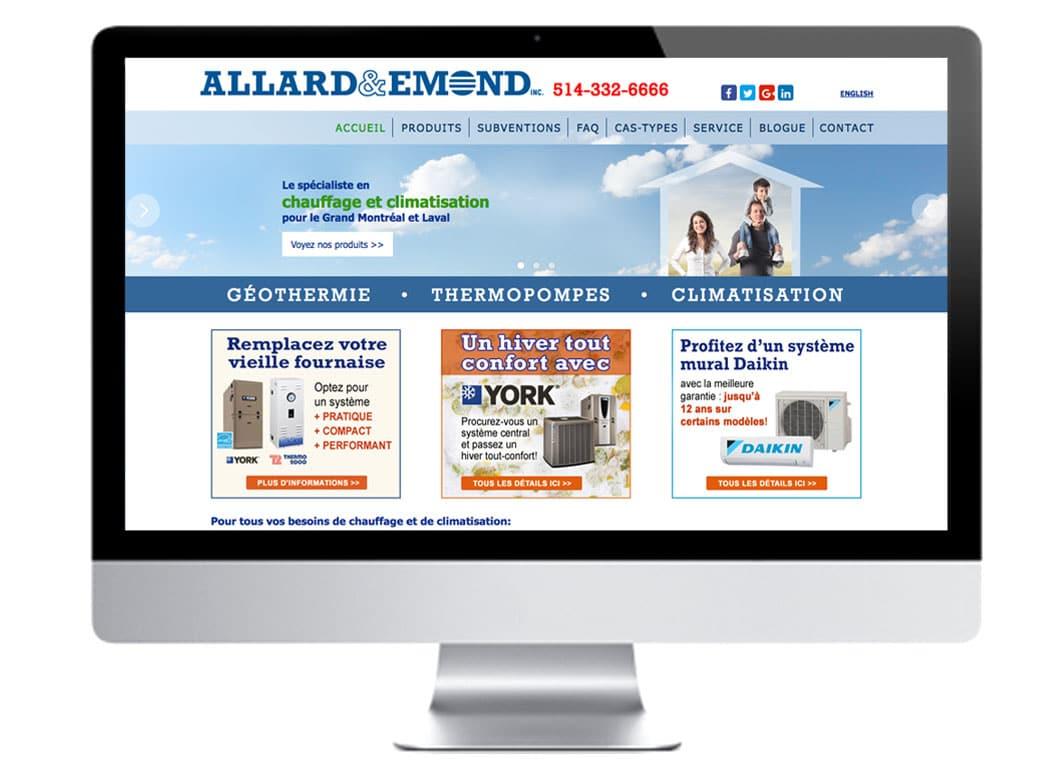 Site internet Allard & Emond