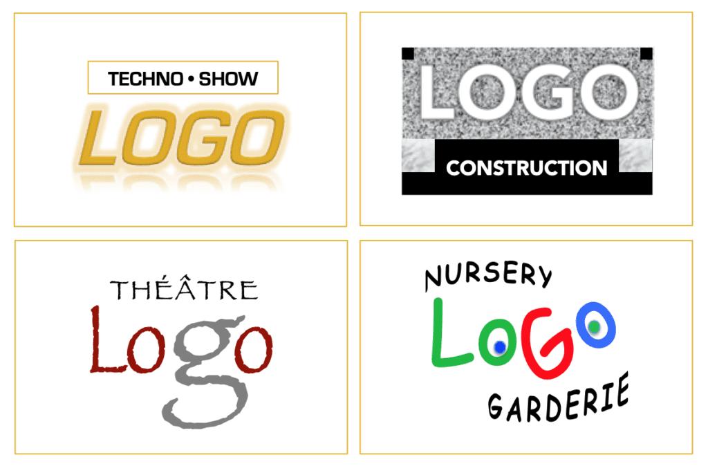 Exemples de STYLE de logos