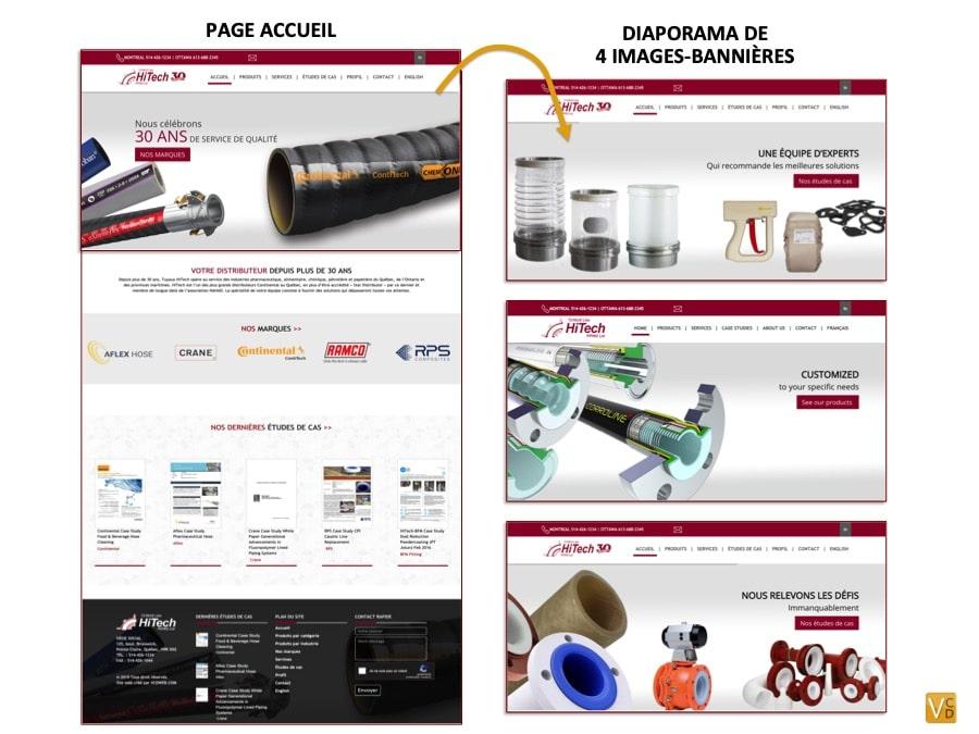 Site internet professionnel Tuyaux HiTech - Accueil